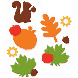 Fall Deluxe Foam Sticker Kit- 285pc