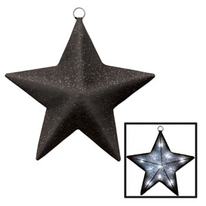 Silver Light-Up Sparkle Star - 16in