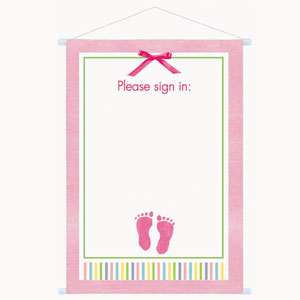 Baby Girl Sign-In Sheet