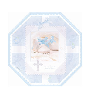 Tiny Blessing Blue Octagonal 10 Inch Plates- 8ct