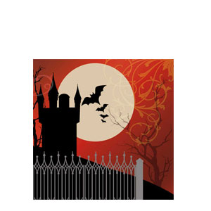 Frightful Night Luncheon Napkins- 16ct