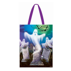 Mostly Ghostly Tote 15 in.