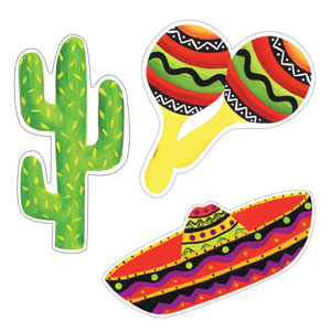 Fiesta Stripes Cutout Assortment- 3ct