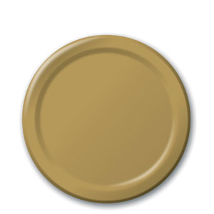 Gold 7 Inch Plates