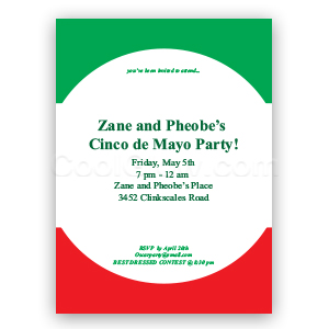 Mexican Stripes - Custom Invitations