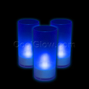 LED Pillar Candle - Blue