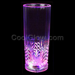 LED 9oz Crystal Highball Glass - Multicolor
