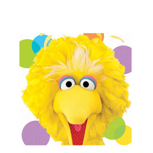 Sesame Street Big Bird Luncheon Napkins- 16ct
