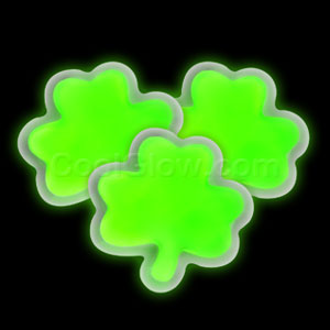 Glow Badge Shamrock - Green