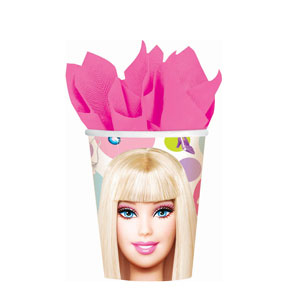 Barbie 9 oz. Cups- 8ct