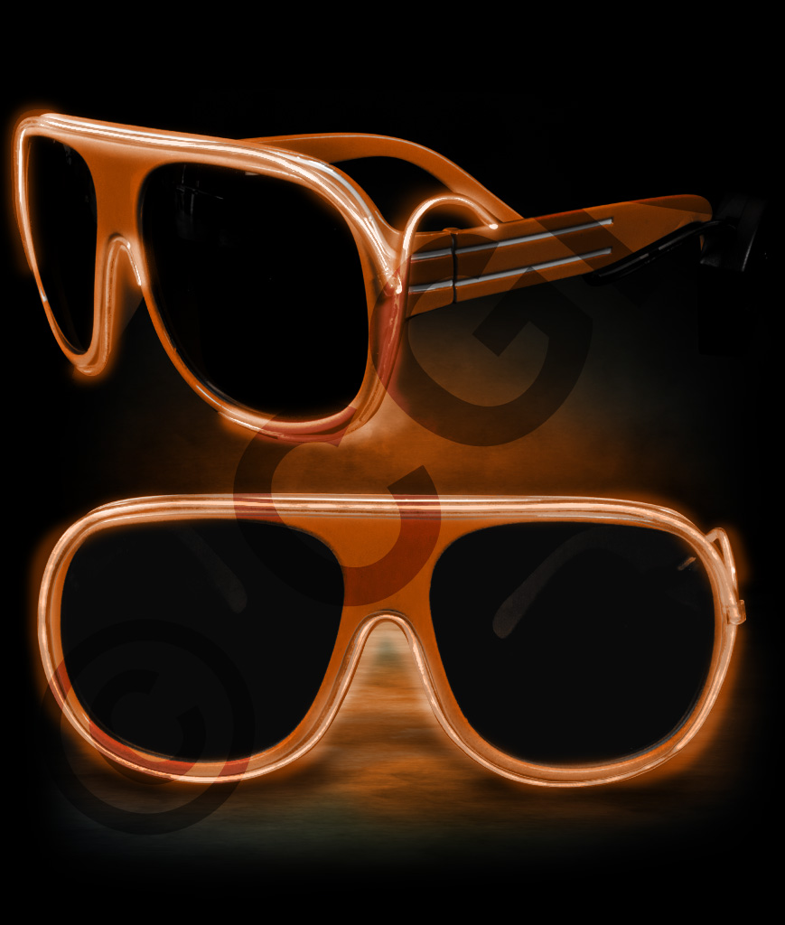 EL Aviator Glasses- Orange
