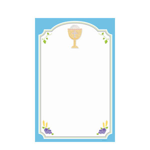 Communion Blue Imprintable Invitations- 12ct