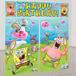 SpongeBob Party Scene Setters- 5pc