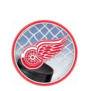 Detroit Red Wings 7 Inch Plates- 8ct