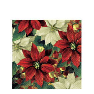 Regal Poinsettia Luncheon Napkins