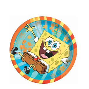 SpongeBob Buddies 9 Inch Plates- 8ct