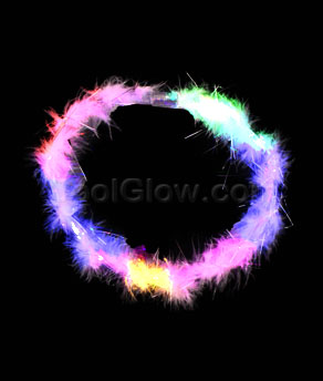 LED Feather Necklace - Multicolor