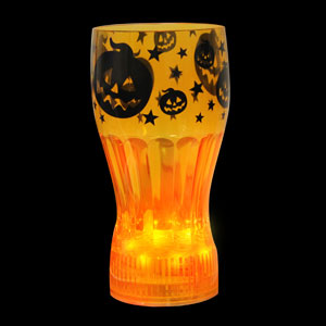 LED Halloween Cup - 12 oz. Orange Pumpkins