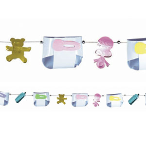 Baby Shower Diaper Garland - 12ft