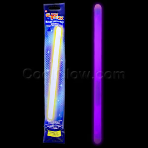 Fun Central O024 14 Inch Glow in the Dark Sticks - Purple