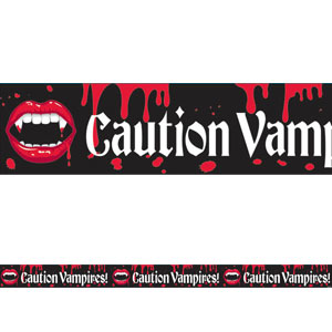 Vampire Caution Tape Banner- 20ft