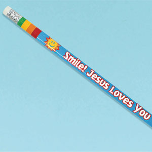 Jesus Loves You Pencil- 12ct