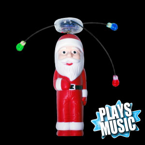 LED Spinning Santa Wand