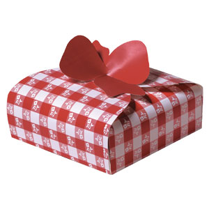 Pie Box Red Gingham