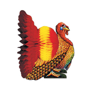 Tissue Turkey Centerpiece - 12 inch