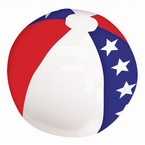 Patriotic Stars Beach Ball - 20 inch