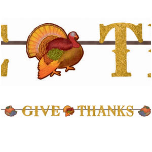 Glitter Thanksgiving Letter Banner- 12ft
