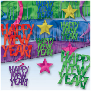 Ultimate Happy New Year Ceiling Decorating Kit - 27ct