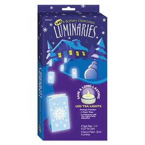 Snowflake Luminary Kit- 6pc