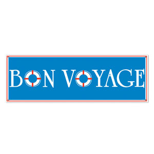 Bon Voyage Sign Banner- 5ft