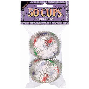 Spider Frenzy Cupcake Holders- 50ct