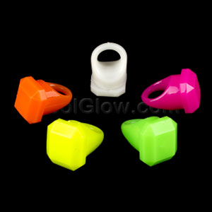 LED Jelly Gem Rings - Assorted