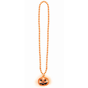 Pumpkin Flashing Necklace- 23in