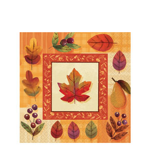 Watercolor Leaves Luncheon Napkins
