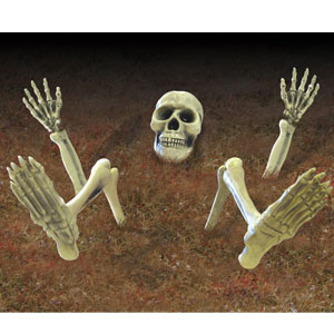 Half-Buried Lawn Skeleton 9pc