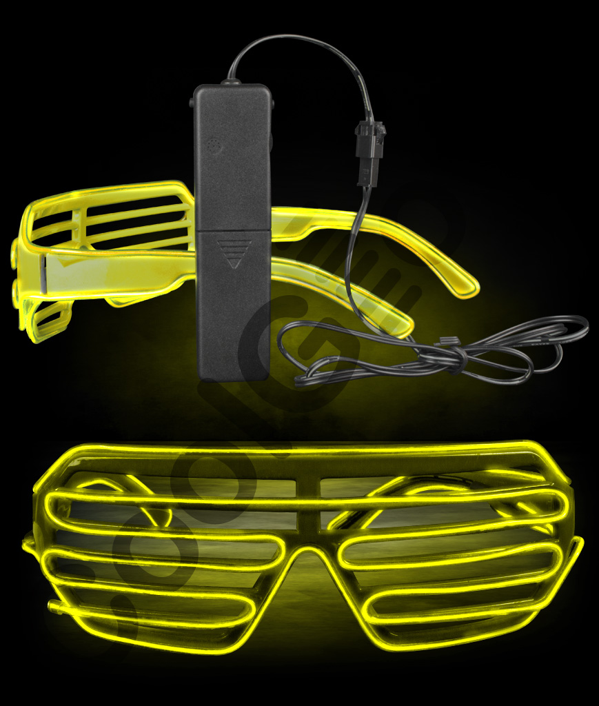 EL Shutter Slotted Shades- Yellow
