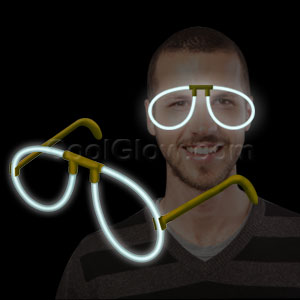 Fun Central H11 Glow in the Dark Eye Glasses - White