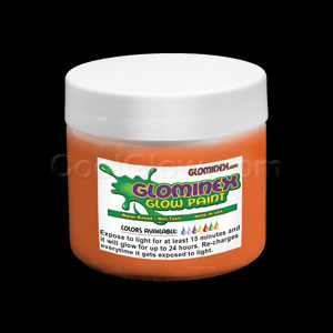 Glominex Glow Paint 8 oz Jar - Orange