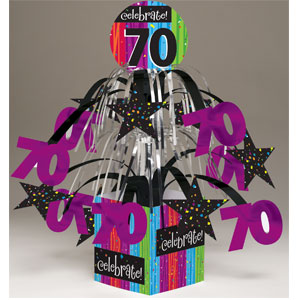 Celebrate 70 Centerpiece - Mini-Foil