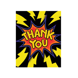 Superhero Fun Thank You Cards - 8ct