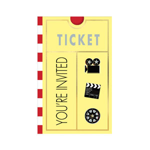 Movie Folded Invitations- 8ct