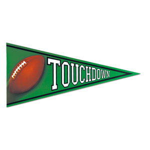Football Pennant Cutout- 24.5in