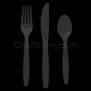Black Cutlery Assortment - 150ct