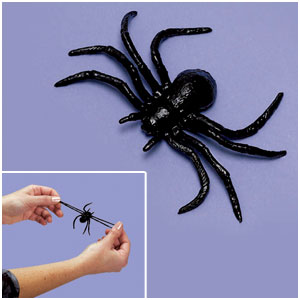 Stretchy Spiders- 8ct