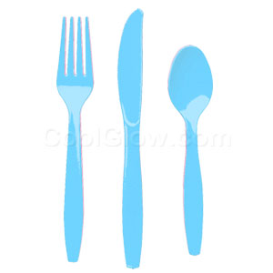 Bright Blue Cutlery Assortment - 150ct