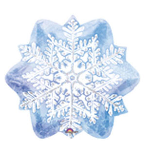 Let it Snow Snowflake Foil Balloon - 18 Inch